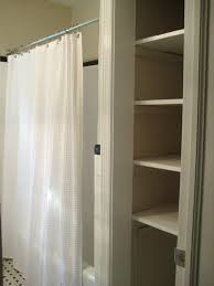 Endearing Bathroom Closet Shelving with Take The Door f Your