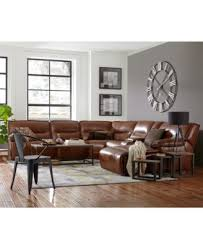 CLOSEOUT Beckett 3 pc Leather Sectional Sofa with Chaise & 1