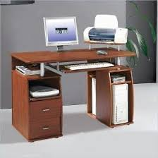 Techni Mobili Computer Desk With Storage by Techni Mobili Mahogany Computer Desk With Side Storage And Cpu
