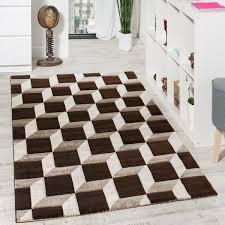 wohnzimmer teppich geo design würfel muster
