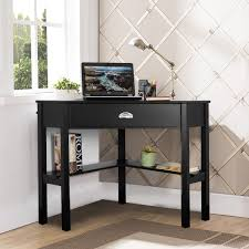 HarperBright Designs Adjustable Drafting Table Drawing Desk With Tempered Glass Top Two Drawers And Castors
