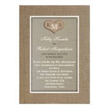 Post Wedding Reception Invitation Burlap