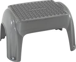 Cosco Retro Chair With Step Stool Black by Cosco Products Cosco Molded Tech Step Step Stool