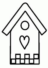 Bird House Coloring Pages For Kids