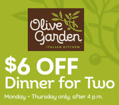Olive Garden Coupon $6 off Dinner for Two Who Said Nothing in