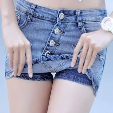 Cute Spring And Summer Womens Shorts Skirts Young Girls Ladies Party Sexy Short Jeans Denim