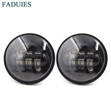 faduies 2 pcs black 4 5 inch led passing light led fog ls for