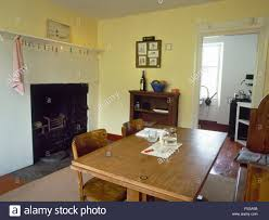 Gallery Of The Dining Room And Old Kitchen Fireplace With Victorian Range Carreg Fawr Bardsey Island North Wales Uk Now Used As Holiday Cottage