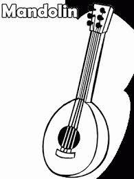 Mandolin Music Coloring Pages