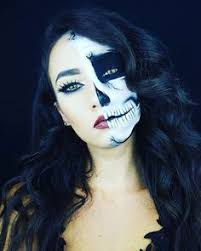 Halloween Half Mask Makeup by Skull Inspiration For Nd Raon Doll Mod Inspirtation Pinterest