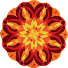 grund mandala knowledge of self series red 4 ft x 4 ft round