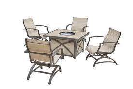Patio Furniture Under 30000 by Backyard Creations Verona 5 Piece Fire Patio Set At Menards