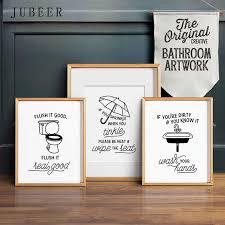 flush wc poster lustige bad kunst wand dekor toilette dekoration bild lav poster und drucke minimalistischen kunst