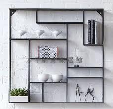 Creative Iron Display Shelf Rack On The Wall Show Living Room Mount