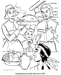 Thanksgiving Pages To Print And Color Coloring Free