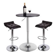 Amazon.com - 3-Piece Pub Table Set - Round Table And 2 Piece ...