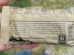 Before I Opened The Package Turned It Over Noticed Nutrition Facts Serving Size 1 Bar Calories 260 From Fat 60 And Rest Need To