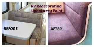 Before After RV Upholstery Paint