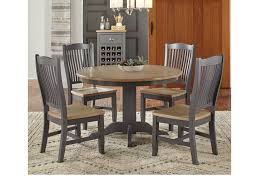 AAmerica Port Townsend 5 Pc Table & Chair Set- (Round Table & 4 Side ... Ding Room Set Round Wooden Table And Chairs Black 5 Piece Rustic Kitchen Farmhouse 48 Inch Sets Insurserviceonline Unique Extension Khandzoo Home Decor Best Bailey With Turned Legs Rotmans The Kaitlin Miami Direct Fniture Glass Ikea Dinner Comfortable Chair Circular Tables And Amazoncom Pac New 5pc Antique White Wash Cherry Finish Stanley Juniper Dell 5piece Dunk Ashley With Design Material Harbor View 4 Slat Back