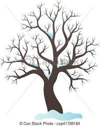 Winter Tree Topic Image Vector