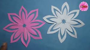 How To Make Easy Paper Cutting Flower Designs