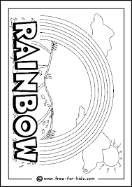 Image Of Rainbow Colouring Page Sheet