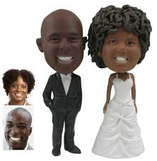 Personalized Wedding Cake Topper of a Couple with Hands in Pockets a Cake Topper that