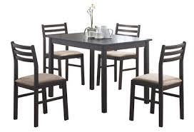 Dining Table Set Walmart Canada by Monarch 5 Piece Corey Cappuccino Dining Set Walmart Canada