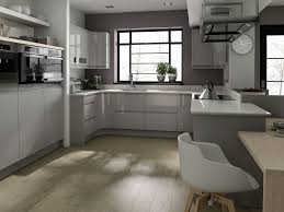 Best Idea Of Grey Kitchen Cabinets Design With White Countertop Also Square Sink