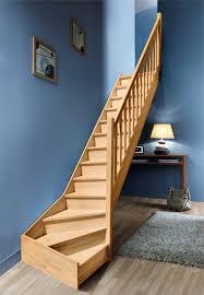 pose carrelage escalier quart tournant tournant en hêtre avec re bois volée 1 4 tournant re