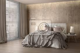 schlafzimmer mit vorhang poster myloview