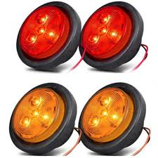 100 Truck Clearance Lights Shop For NEW SUN 25 Round LED 4 LEDs Trailer Side