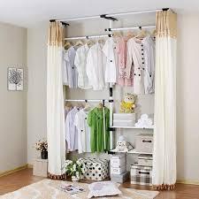 platzsparende kinderzimmermöbel kleiderschrank mit vorhänge