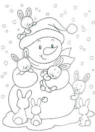 Printable Winter Coloring Pages Free Sports Page