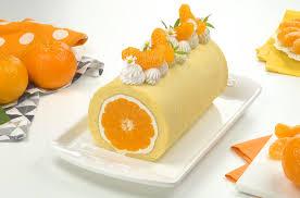 mandarinen rolle mit joghurt sahne creme leckerschmecker