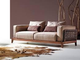canap bois et tissu raffiné et distingué ce magnifique canapé 3 places en tissu