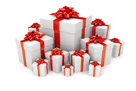 Download Pile Christmas Birthday Presents Stock Illustration Image