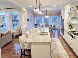 Kitchen White Off Cabinets Open Layout Concept Sherwin Williams Conservative Gray Pier