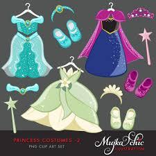 Princess Costumes 2 Clipart 01 0