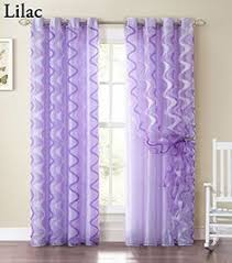 Purple Ruffle Blackout Curtains by Lush Decor Purple 84 Inch Ruffle Curtain Panel Overstock