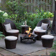 Patio Furniture Conversation Sets With Fire Pit by Berkley Jensen Calais 5 Pc Fire Pit Chat Set Bjs Wholesale Club