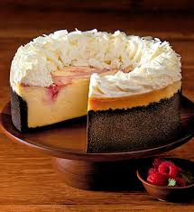The Cheesecake Factory White Chocolate Raspberry Truffle Cheesecake 7""
