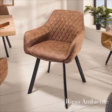 retro stuhl palermo vintage hellbraun mit armlehne und