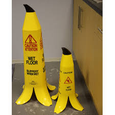 Caution Wet Floor Banana Sign by Banana Wet Floor Safety Cones With Next Day Delivery