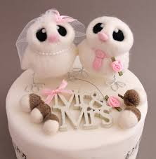 Awesome Collection Of Bird Wedding Cake Toppers On Needle Felted Topper
