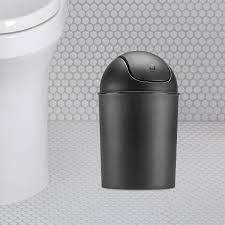 Small Bathroom Trash Can With Lid by Amazon Com Umbra Mini Waste Can 1 1 2 Gallon With Swing Lid
