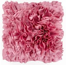 Dusty Pink Ruffled Down Throw Pillow
