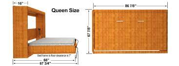 Horizontal Easy DIY Murphy Dimensions