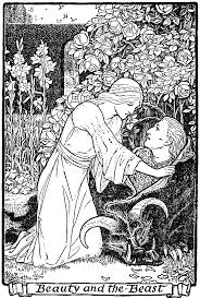 Illustration From Europas Fairy Book Beauty And The Beast