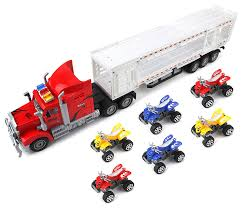 100 Best Semi Truck Amazoncom Power Transporter Trailer Childrens Friction Toy